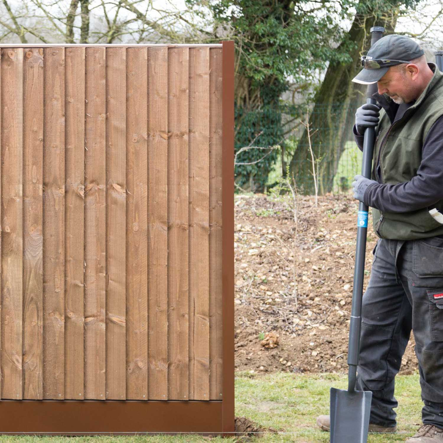 DuraPost steel fence at AVS Fencing & Landscaping